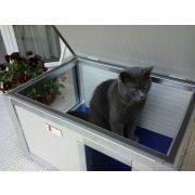"""[IF-RH_C1-W] INFRAFŰTÉSES Thermo Renato cicaház panoráma ablakkal """"CAT"""" belméret (HxSZxM:54x38x28cm)"""