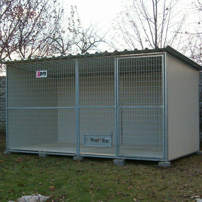 RENATO Kutya kennel, 4x2m alapterület, padozat nélkül