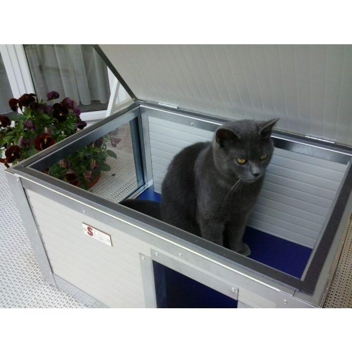 Thermo Renato szigetelt macskaház, panoráma ablakos