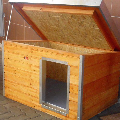 """[SM-HXL] Thermo Madera kutyaház SMH """"XL"""" belméret (HxSZxM:102x68x55cm) (ferdetetővel)"""