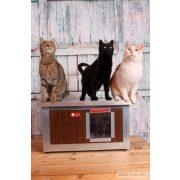 "[IF-W-HC1] INFRAFŰTÉSES Thermo WOODY cicaház ""CAT"" belméret (HxSZxM:54x38x28cm)"